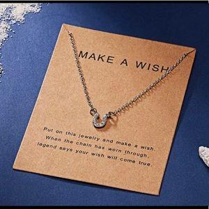 Jewelry - Make a Wish Necklace -  Silver tone Horseshoe